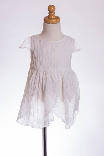 ML Kids Petal Tunic - White