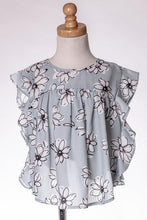 ML Kids Flower Top - Blue