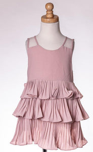 ML Kids Tiered Ruffle Tunic - Blush