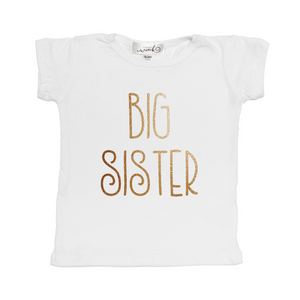Sweet Wink Big Sister Tee - White - Bloom Kids Collection - Sweet Wink