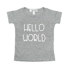 Sweet Wink Hello World Tee - Grey - Bloom Kids Collection - Sweet Wink