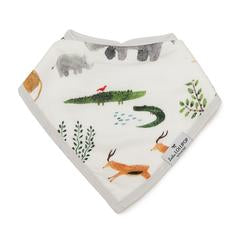 Loulou Lollipop Luxe Muslin Bandana Bib Set - Safari - Bloom Kids Collection - Loulou Lollipop