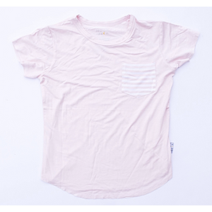 Moon + Beck Classic Tee - Blush - Bloom Kids Collection - Moon + Beck