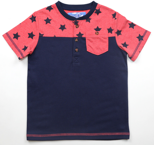 Kapital K Color Block Pocket Tee - Stars - Bloom Kids Collection - Kapital K