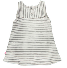 Babyface Striped Dress - Desert Grey