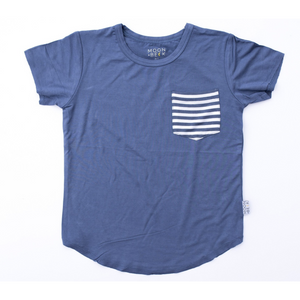 Moon + Beck Classic Tee - Navy - Bloom Kids Collection - Moon + Beck