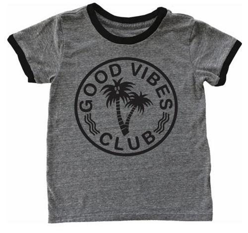 Tiny Whales Good Vibes Club Tee - Bloom Kids Collection - Tiny Whales