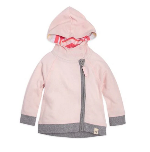 Burt's Bees Loose Pique Zip Hoodie - Blossom - Bloom Kids Collection - Burt's Bees