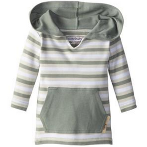 L'ovedbaby Organic Hoodie - Seafoam Stripe - Bloom Kids Collection - L'ovedbaby