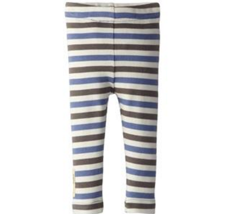 L'ovedbaby Organic Leggings - Slate Stripe - Bloom Kids Collection - L'ovedbaby