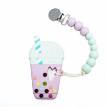 Loulou Lollipop Teether - Bubble Tea with Holder - Bloom Kids Collection - Loulou Lollipop