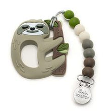Loulou Lollipop Teether - Sloth with Holder - Bloom Kids Collection - Loulou Lollipop