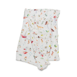 Loulou Lollipop Muslin Swaddle - Woodland Gnome