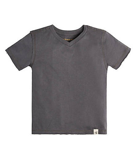 Burt's Bees High V Cotton Tee - Slate - Bloom Kids Collection - Burt's Bees