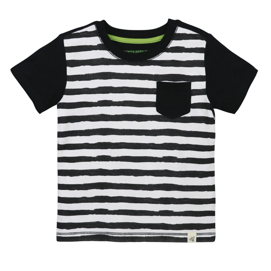 Burt's Bees Painted Stripe Pocket Tee - Onyx - Bloom Kids Collection - Burt's Bees