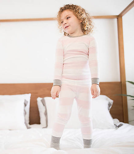 Burt's Bees Rugby Stripe PJ Set - Blossom - Bloom Kids Collection - Burt's Bees