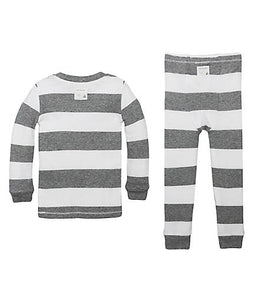 Burt's Bees Rugby Stripe PJ Set - Heather Grey - Bloom Kids Collection - Burt's Bees