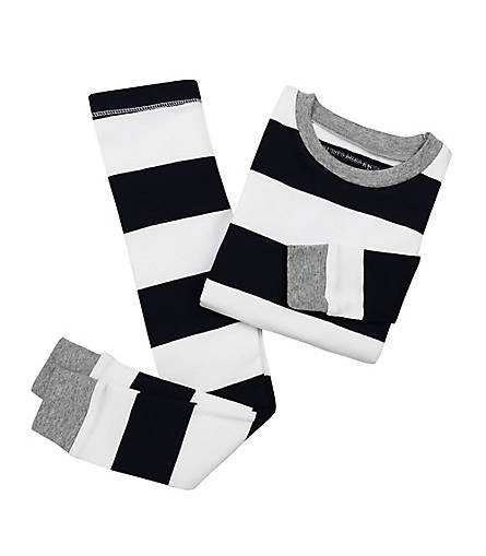 Burt's Bees Rugby Stripe PJ Set - Midnight - Bloom Kids Collection - Burt's Bees