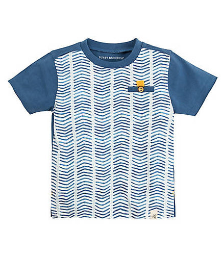 Burt's Bees Multi Chevron Tee - Blue Star - Bloom Kids Collection - Burt's Bees