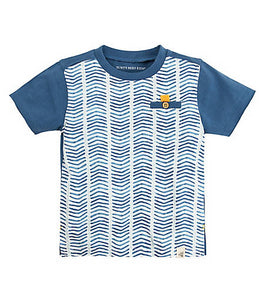 Burt's Bees Multi Chevron Tee - Blue Star - Bloom Kids Collection - Burt's Bee