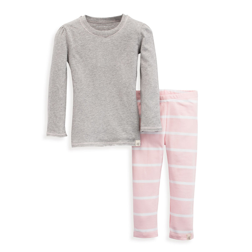 Burt's Bees Gathered Sleeve Tee & Legging Set - Blossom - Bloom Kids Collection - Burt's Bees