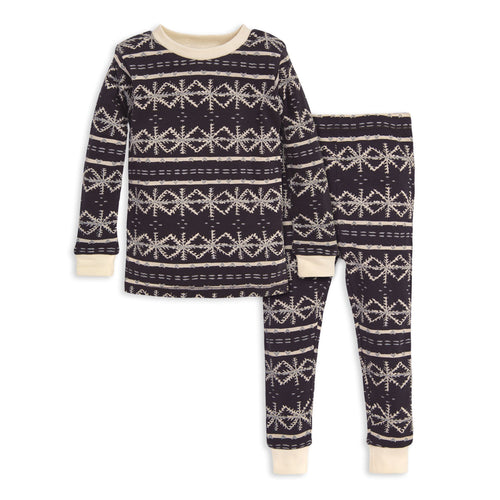 Burt's Bees Frozen Fair Isle Tee & Pant PJ Set - Zinc - Bloom Kids Collection - Burt's Bees