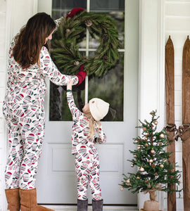 Burt's Bees Merry Mittens Tee & Pant PJ Set - Pine Tree - Bloom Kids Collection - Burt's Bees