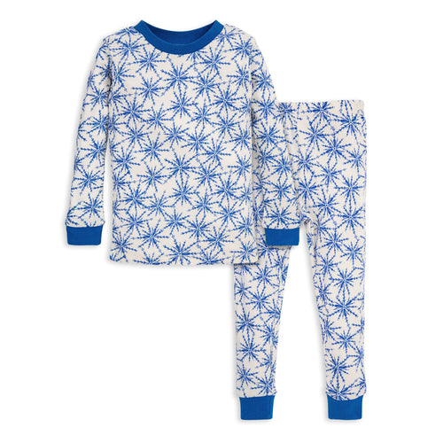 Burt's Bees Icy Snowflakes Tee & Pant PJ Set - Bluebird - Bloom Kids Collection - Burt's Bees