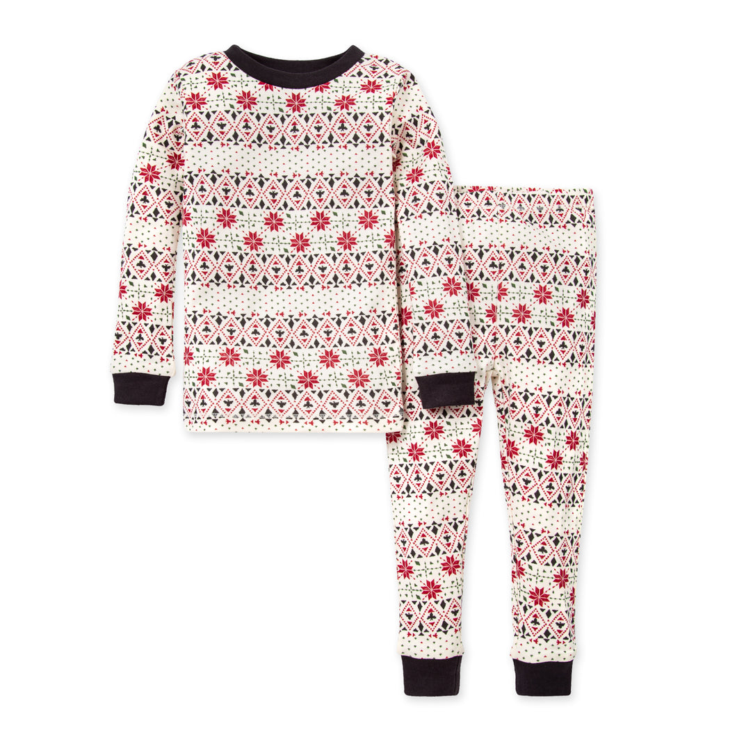 Burt's Bees Bold Fair Isle Organic Holiday Family Pajamas