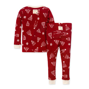 Burt's Bees Hats Off! Organic Holiday Family Pajamas - Cranberry
