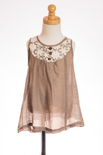 ML Kids Mocha Tank - Bloom Kids Collection - ML Kids