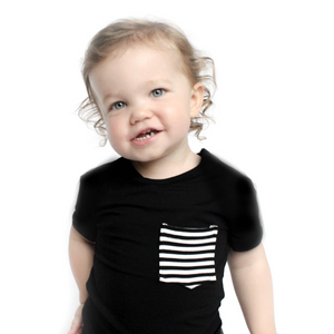 Moon + Beck Classic Tee - Black - Bloom Kids Collection - Moon + Beck