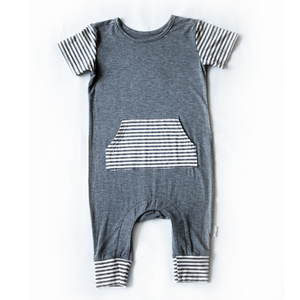 Moon + Beck The Romper II - Gray - Bloom Kids Collection - Moon + Beck