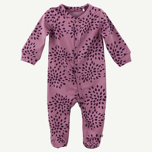 Oliver and Rain Purple Burst Print Pima Cotton Sleep and Play - Bloom Kids Collection - Oliver and Rain