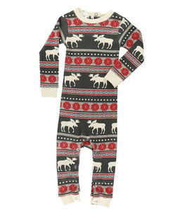 Lazy One Moose Fair Isle Union Suit - Bloom Kids Collection - Lazy One