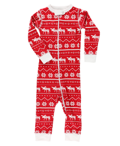 Lazy One Nordic Moose Unionsuit - Bloom Kids Collection - Lazy One