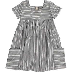 Vignette Rylie Dress - Charcoal - Bloom Kids Collection - Vignette