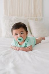 Itzy Ritzy Sweetie Soother™ Pacifier Sets (2-pack) - Mint & White Cable