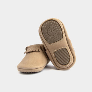 Freshly Picked Mini Sole Weatherd Brown City Moccasins - Bloom Kids Collection - Freshly Picked