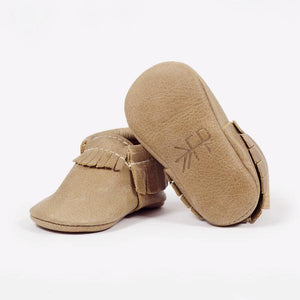 Freshly Picked Weathered Brown Moccasins - Bloom Kids Collection - Freshly Picked