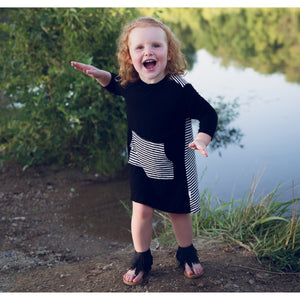 Moon + Beck Piper Dress - Black - Bloom Kids Collection - Moon + Beck