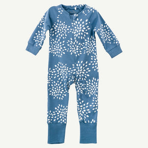 Oliver and Rain Dark Blue Burst Print Pima Cotton Unionsuit - Bloom Kids Collection - Oliver and Rain