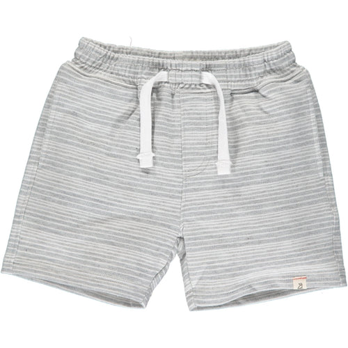 Me & Henry Bluepeter Sweat Shorts - Grey White Stripe