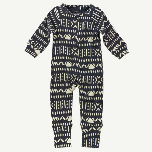 Oliver and Rain Aztec Print Unionsuit - Charocal - Bloom Kids Collection - Oliver and Rain