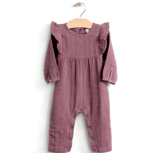 City Mouse Muslin Romper - Orchid - Bloom Kids Collection - City Mouse