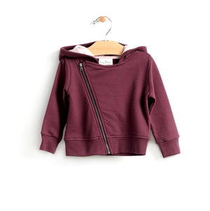 City Mouse Hooded Moto Jacket - Fig - Bloom Kids Collection - City Mouse