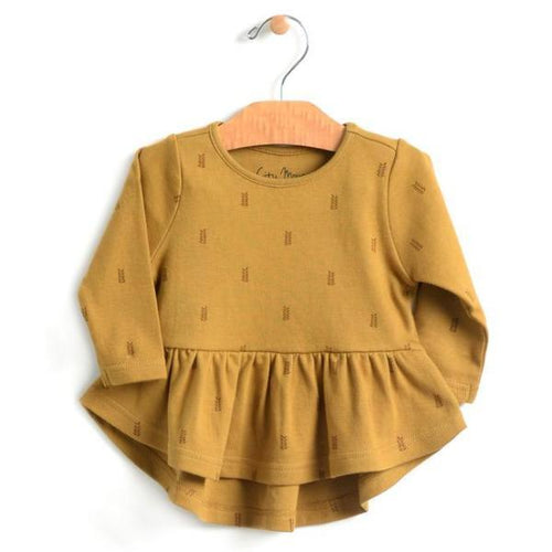 City Mouse Wheat Peplum - Bronze - Bloom Kids Collection - City Mouse