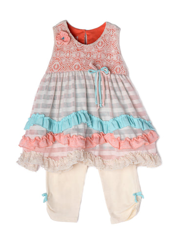 Isobella and Chloe Creamsicle - 2 Piece Set - Bloom Kids Collection - Isobella & Chloe