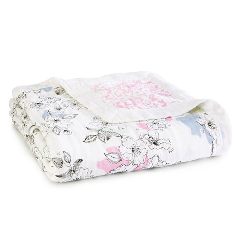 Aden + Anais Silky Soft Dream Blanket - Meadowlark - Bloom Kids Collection - Aden + Anais