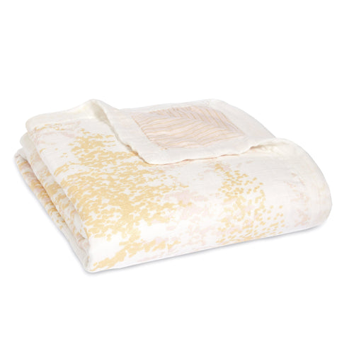 Aden + Anais Silky Soft Dream Blanket - Metallic Primrose - Bloom Kids Collection - Aden + Anais